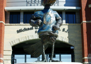 Creighton Bluejay Sculpture