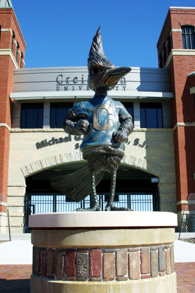 Creighton Bluejay Sculpture