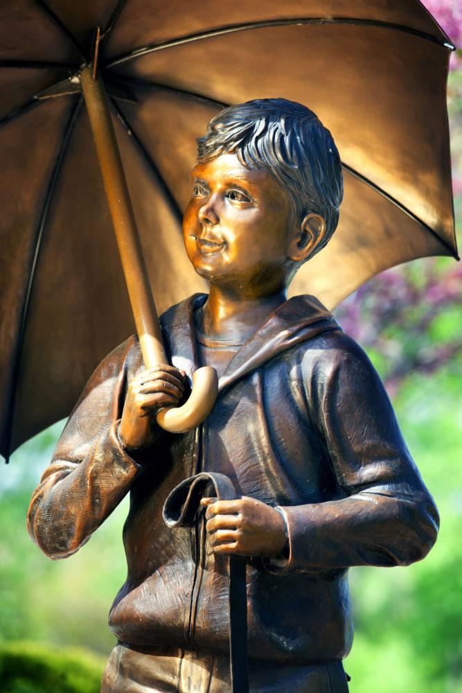 Cherished Upclose Boy sculpture