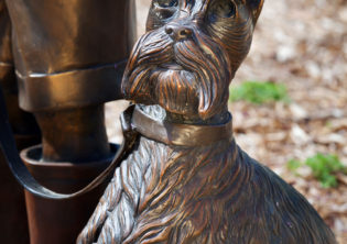 Cherished Sculpture Dog Closeup