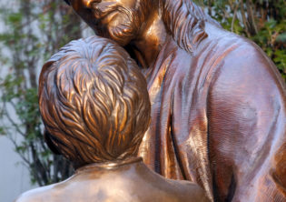 Christ with Child Sculpture