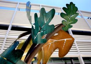 Oak Leaves Circling Sculpture