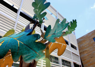 Oak Leaves Circling Sculpture