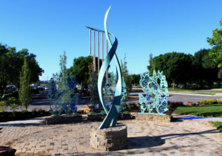 Harmony Screen and Chime Sculpture