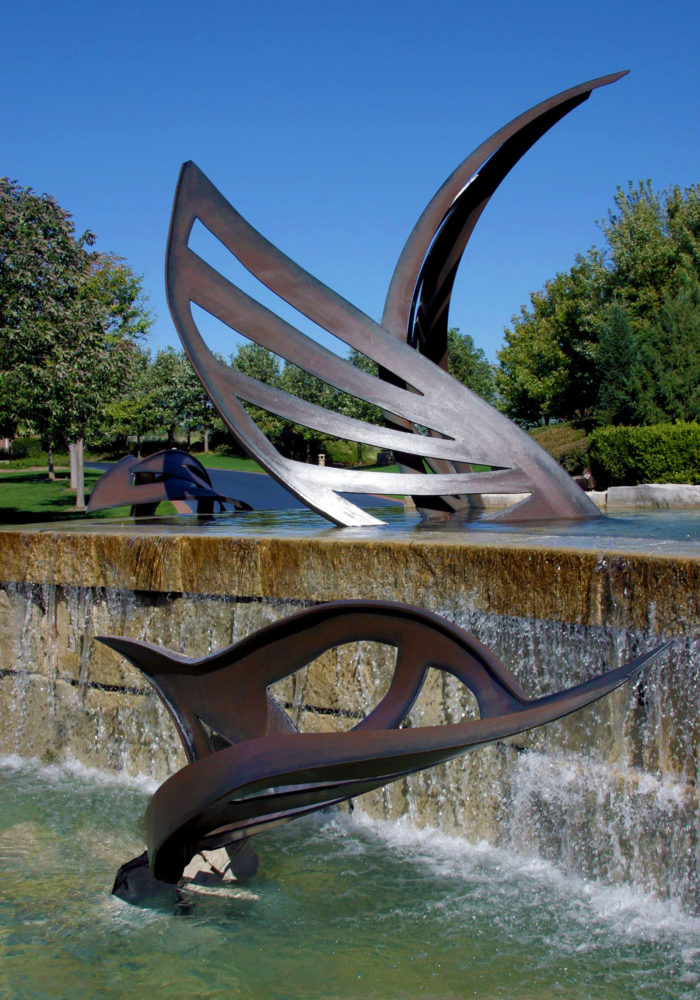 Leaves Water Feature Sculpture