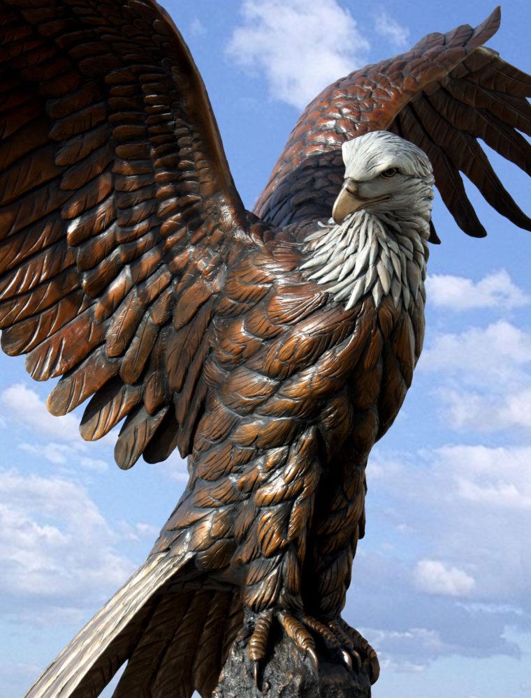 Majestic Eagle Sculpture