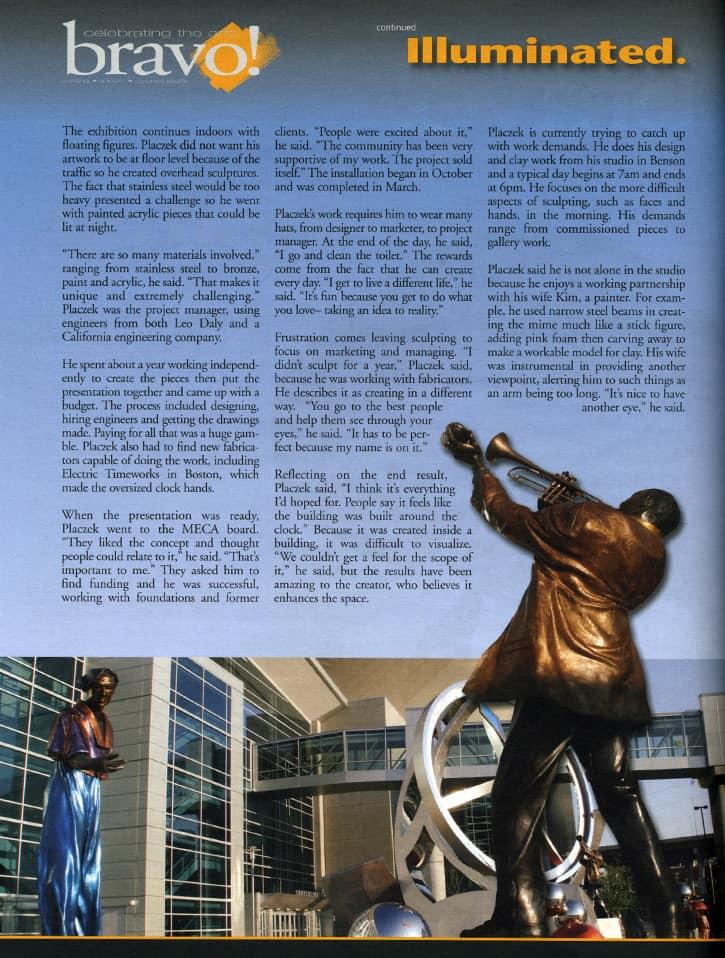 Illuminated Magazine Centruy Link Sculptures