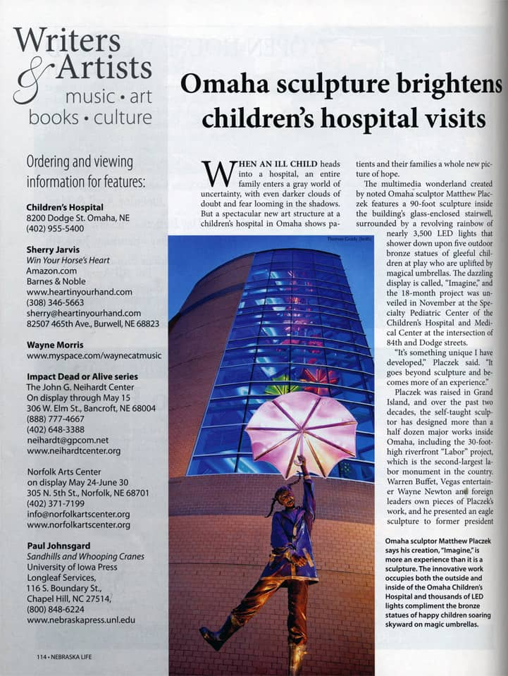 Omaha Imagine Sculpture Children's Hospital