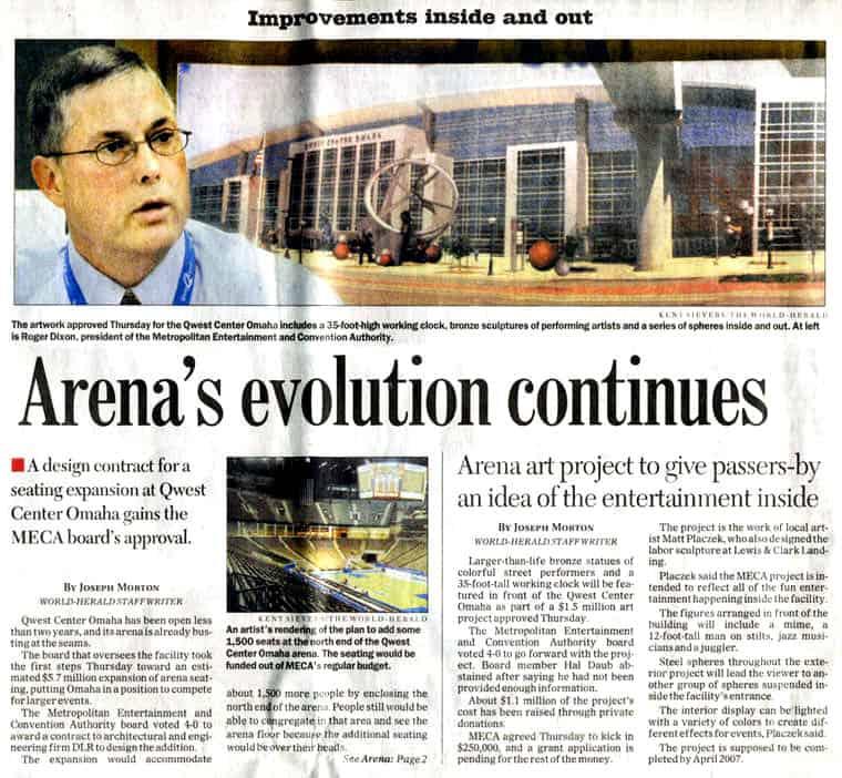 Newspaper Arena Century Link Articl 2005