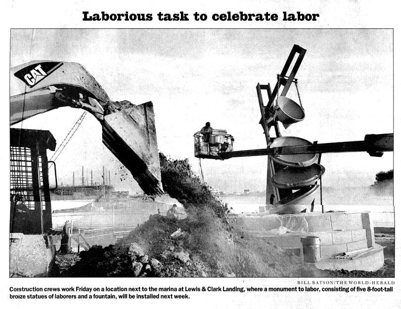Labor Sculpture 2003 Newspaper article