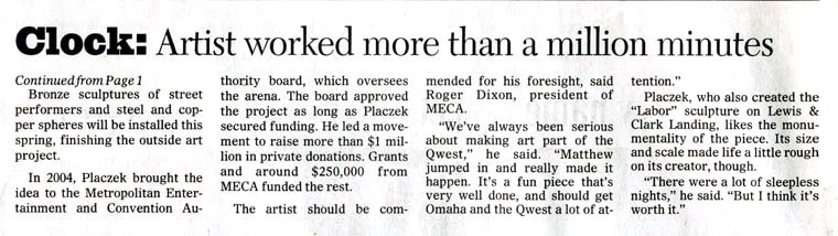 Newspaper Million Minute Clock Sculpture
