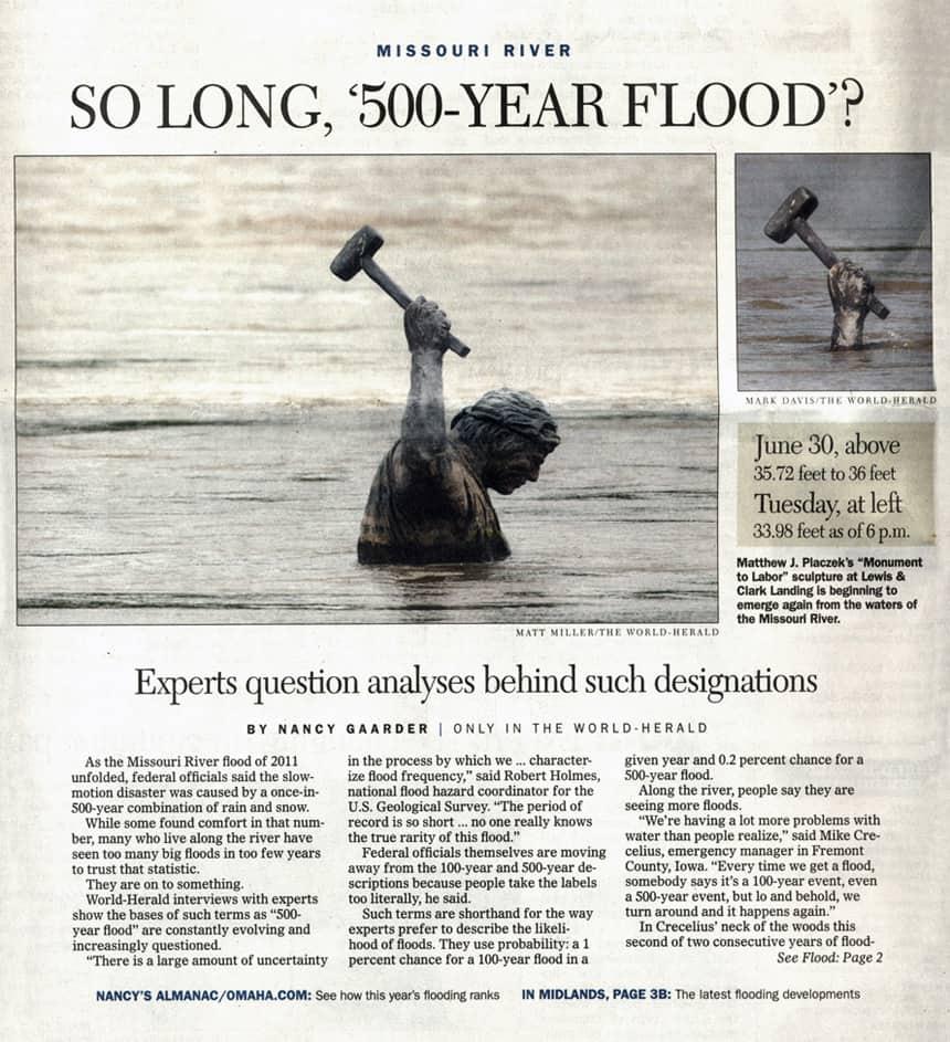 Labor Sculpture Flood