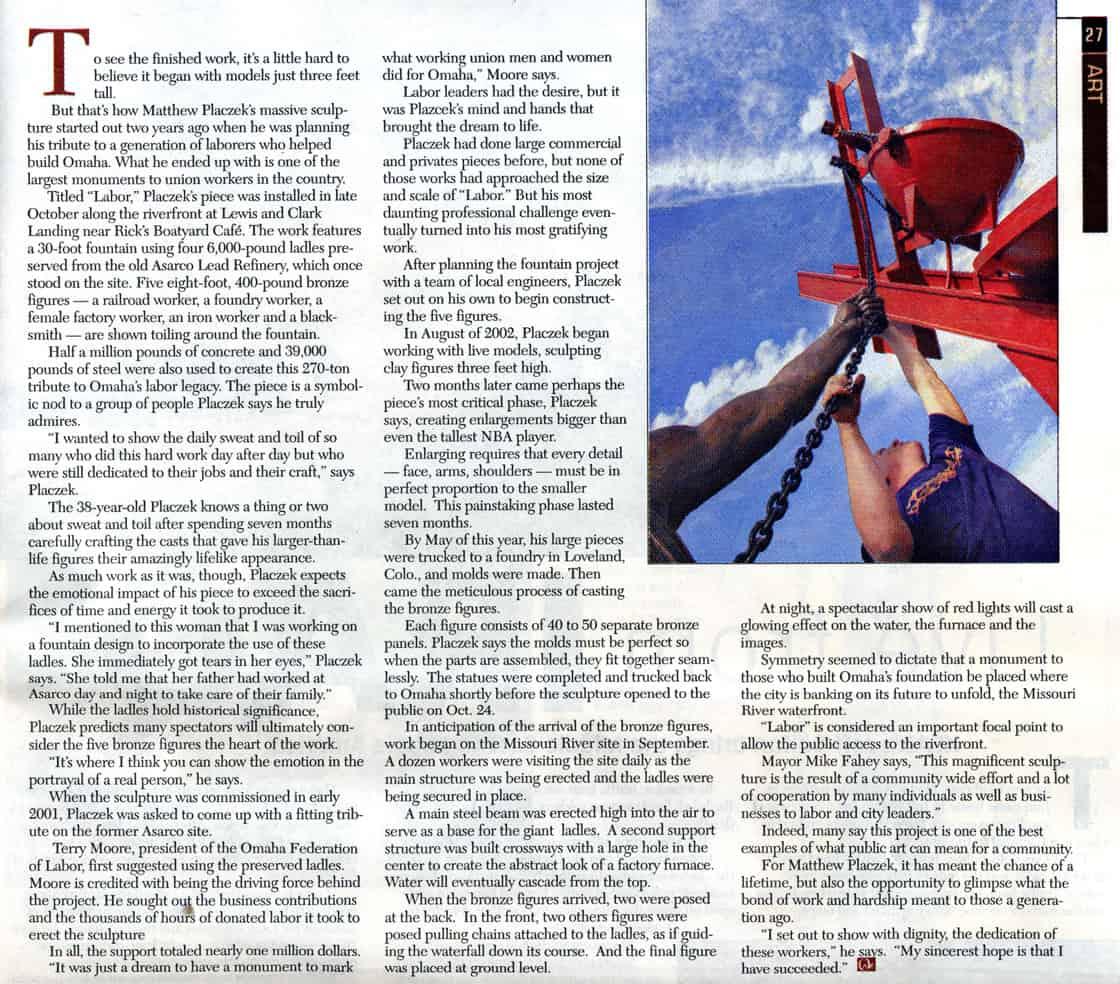 Labor Magazine Article