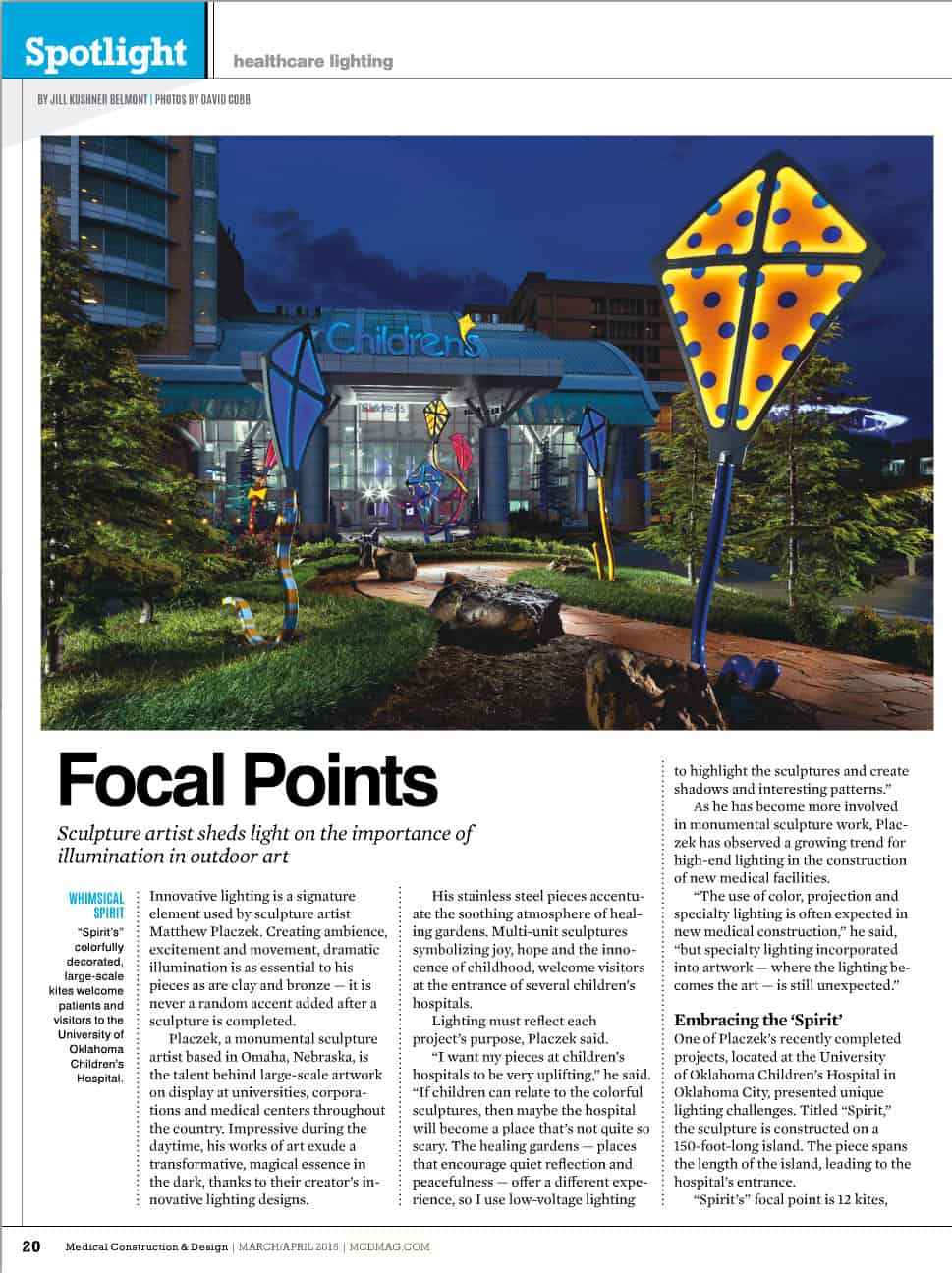 Children's Hospital Kites Article in Medical Construction and Design