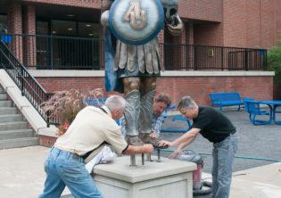 Spartan Sculpture Installation