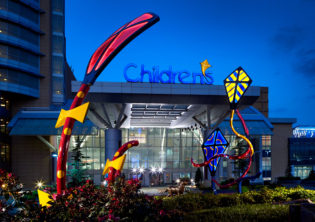 Sprit Children's Hospital Lighted Kites Sculpture