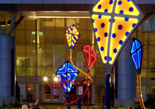 Sprit Children's Hospital Lighted Kites Sculpture