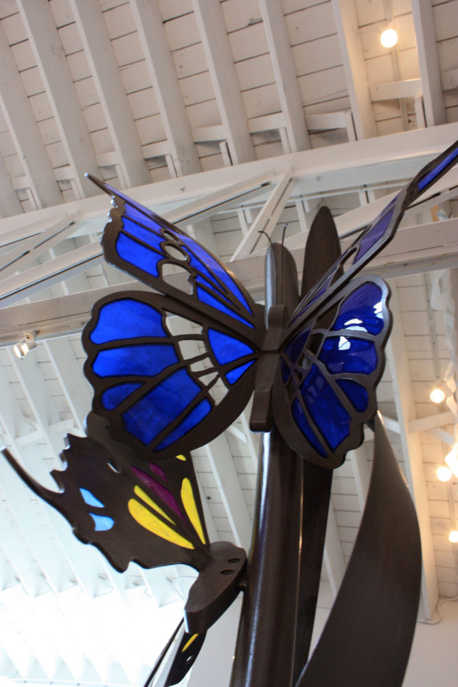 transcending butterfly sculpture