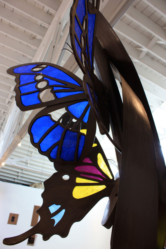 Transcneding butterfly sculpture