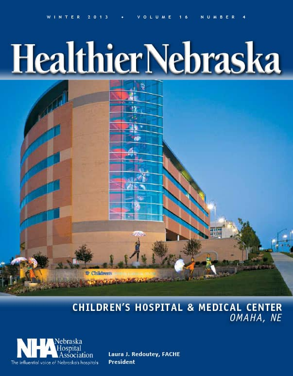 Healthier Nebraska NHA Imagine Children's Hospital Magazine Cover