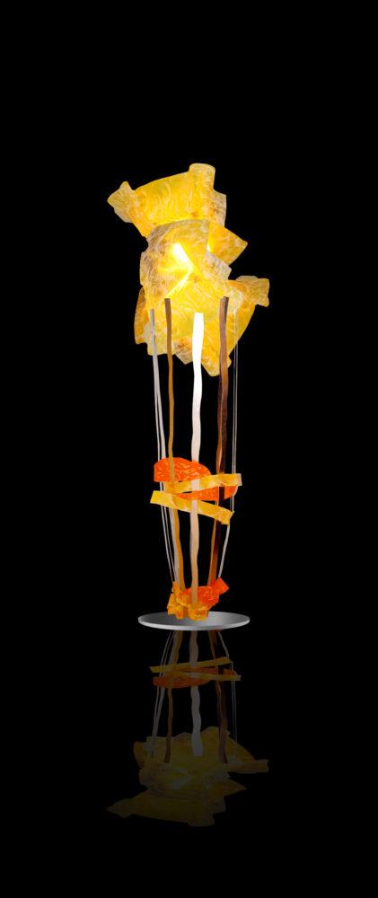 Yello light Sculpture