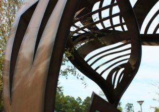 Leaf Arbor Healing Garden Structure