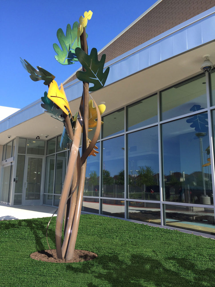 Oak Leaves statue