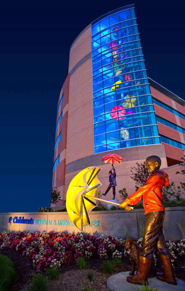 Imagine Children's Hospital Umbrella bronze statues