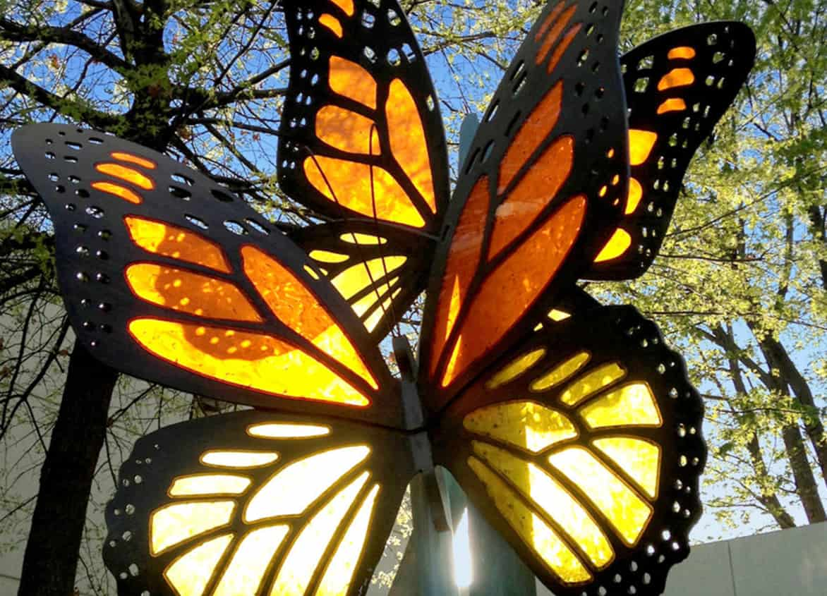 Acrylic Butterfly Sculpture