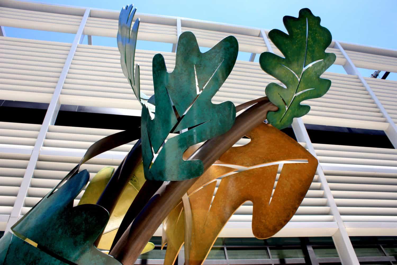 Organic Leaf Sculpture