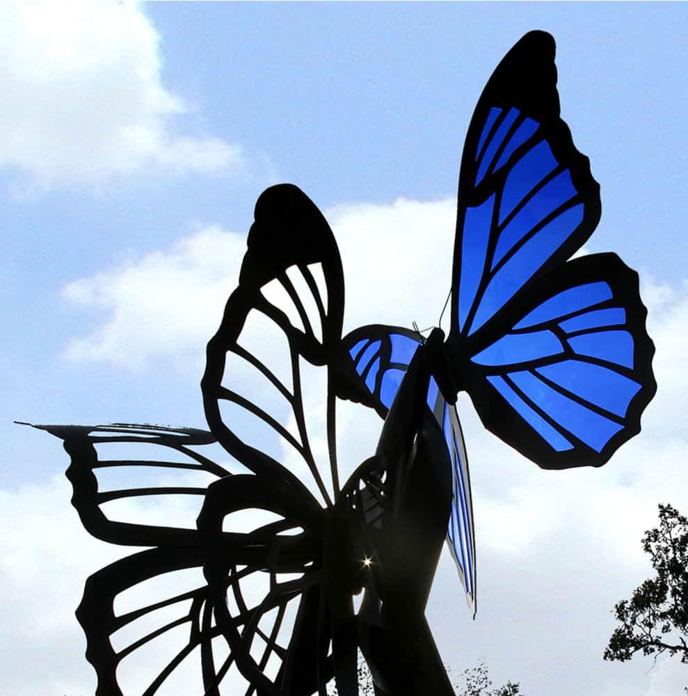 Blue Butterflies Sculpture