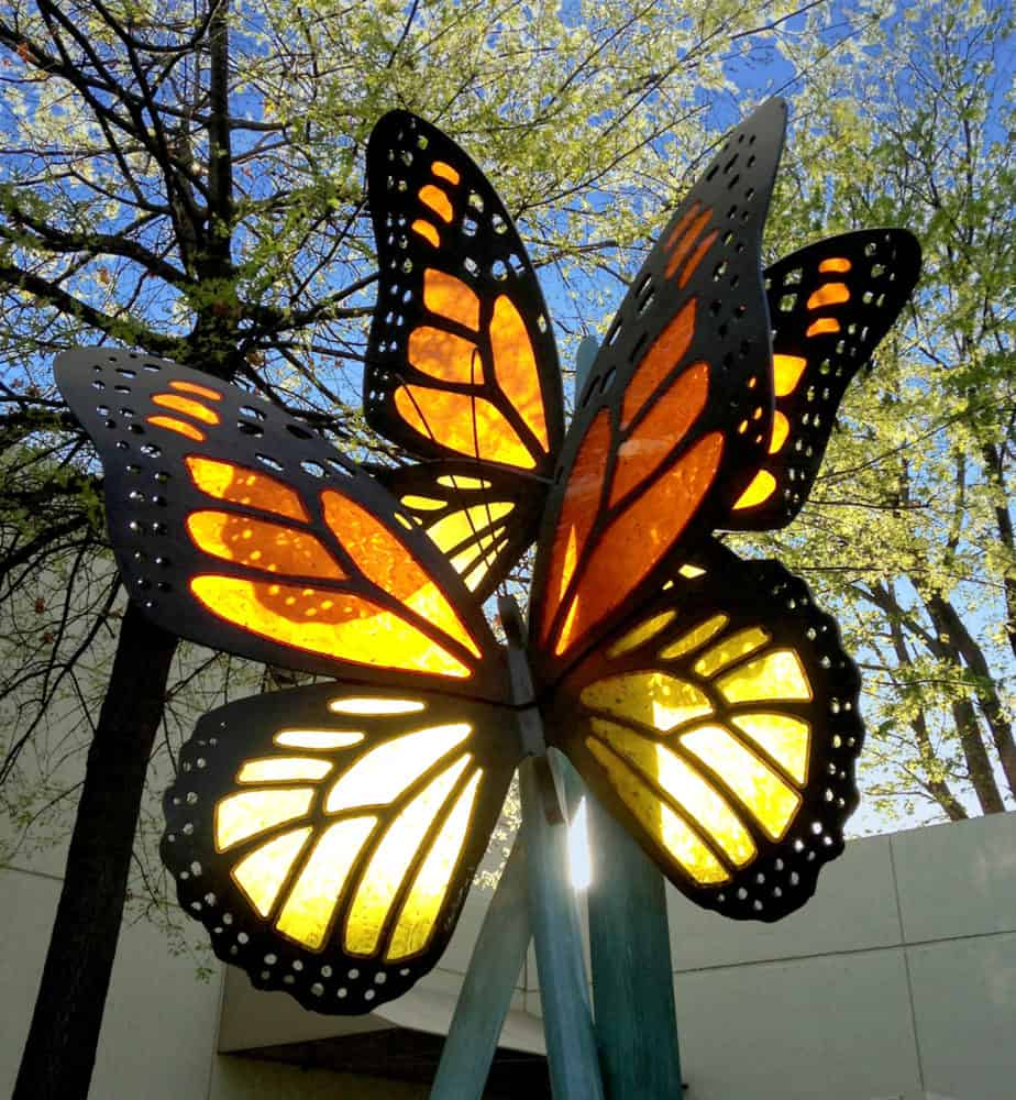 Acrylic Monarch Butterflies in the light