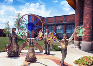 Choctaw Family Healthcare Sculpture