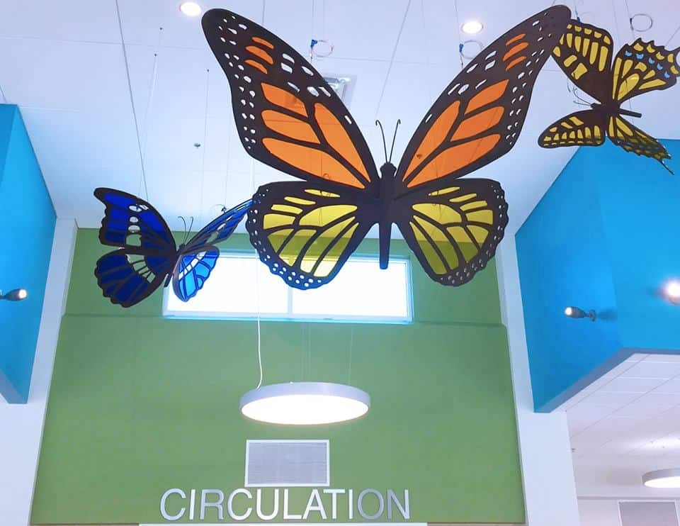 Hanging Library Butterflies